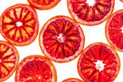 background from sliced blood orange - stock photo