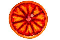 slice blood orange - stock photo