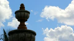 Fountain and Blue Sky Stock Footage