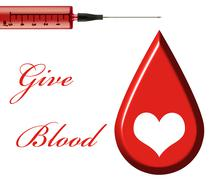 Give Blood - stock illustration