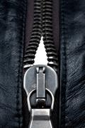 Metal zipper lock Stock Photos
