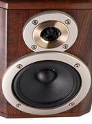 loudspeakers in wooden box - stock photo
