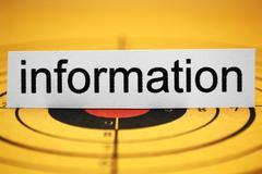 information target - stock photo