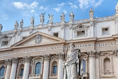 statue of apostle in vatican - stock photo