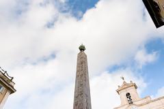Obelisk of montecitori on piazza di montecitorio, rome Stock Photos