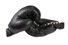 Black boxing gloves Stock Photos