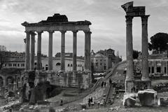 temple of saturn - stock photo
