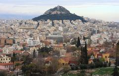 Lycabettus Hill in Athens Greece - stock photo