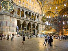 interior of hagia sophia - ancient byzantine basilica - stock photo