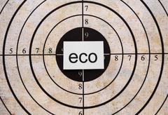 Eco target Stock Photos