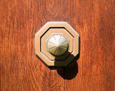 old metall doorknob - stock photo