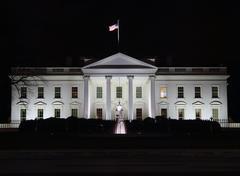 White house night Stock Photos