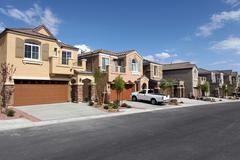 modern suburbs - stock photo