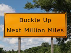 Buckle up sign Stock Photos
