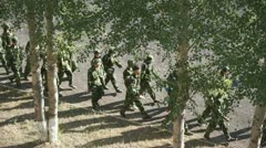 Military Training of Chinese Students 05 Stock Footage
