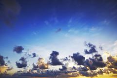 Spectacular sunset sky Stock Photos