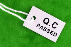 Quality Control Passed - stock photo