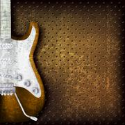 Stock Illustration of abstract grunge background with electric guitar