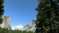 Yosemite 18 Driving Half Dome Stock Footage