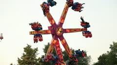 Amusement park Stock Footage