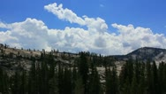 Yosemite 01 Timelapse Clouds x10 Tioga Road Stock Footage