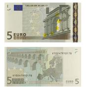 5 Euro Banknote Stock Photos
