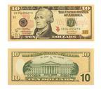 Stock Photo of 10 Dollar Bill