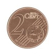 Stock Photo of 2 Eurocent