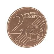 2 Eurocent Stock Photos