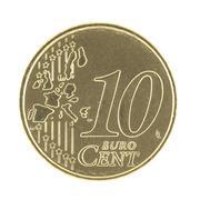 10 Eurocent - stock photo