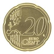 20 Eurocent - stock photo