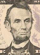 Abraham Lincoln on 5 Dollars 2006 Banknote from USA Stock Photos