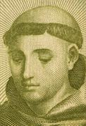 Anthony of Padua on 20 Escudos 1964 Banknote from Portugal - stock photo