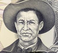 Stock Photo of Augusto Cesar Sandino on 1000 Gordobas 1985 Banknote from Nicaragua