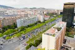 View on avenue diagonal in barcelona Stock Photos