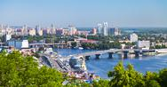 Stock Photo of kiev cityscape and dnieper river