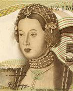 Dona Maria on 50 Escudos 1980 Banknote from Portugal - stock photo