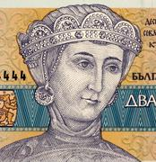 Duchess Sevastokrat Oritza Desislava on 20 Leva 1991 Banknote from Bulgaria - stock photo