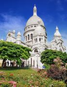 sacre coeur. - stock photo