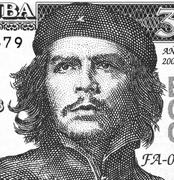 Ernesto Che Guevara on 3 Pesos 2004 Banknote from Cuba - stock photo