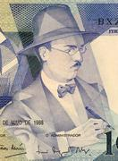 Fernando Pessoa on 100 Escudos 1988 Banknote from Portugal - stock photo