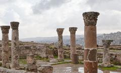 Antique citadel in amman Stock Photos