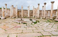 Stock Photo of ruins of ancient market house in antique town jerash