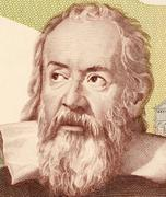 Galileo on 2000 Lire 1983 banknote from Italy - stock photo