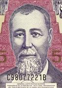 General Justo Rufino Barrios on 5 Quetzal 2006 Banknote from Guatemala - stock photo