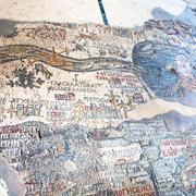 Ancient byzantine map of holy land, madaba Stock Photos