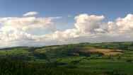 Stock Video Footage of A panoramic view of English countryside