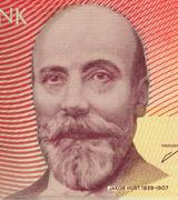 Jakob Hurt on 10 Krooni 2006 Banknote from Estonia - stock photo