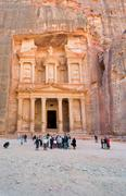 Stock Photo of treasury monument and plaza in antique city petra