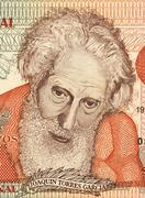 Joaquin Torres Garcia on 5 Pesos Uruguayos 1998 Banknote from Uruguay Stock Photos